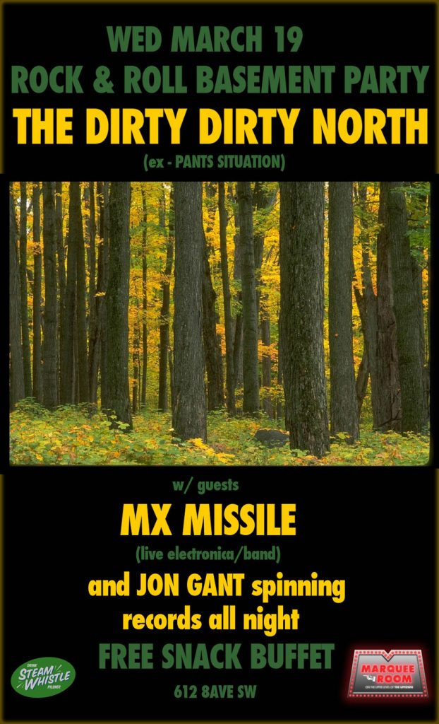 MX Missile gig poster at The Marquee Room